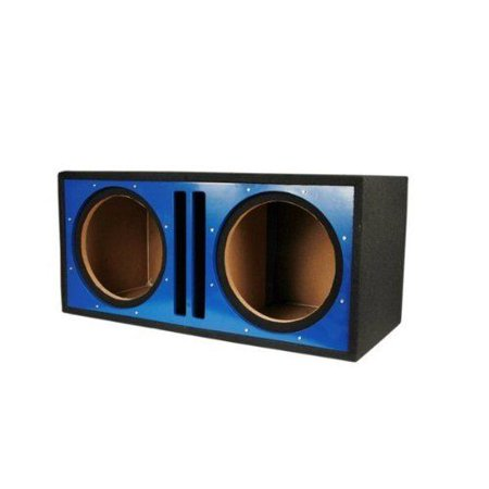 Absolute USA PDEB12BL Dual 12-Inch 3/4-Inch MDF Twin Port Subwoofer Enclosure with Blue High Gloss Face