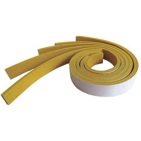 Adhesive Foam Strip,Yellow,4 In,PK5 ZORO SELECT 8ATV3