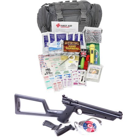 Camillus Survival Pack with Crosman .22 caliber Air Rifle, Ultimate Bugout Kit