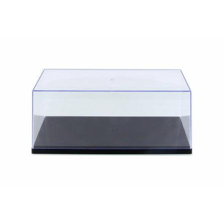 Acrylic Display Case Wood Base - Acrylic Display Case (with 3 background designs), Black Base - ModelToyCars 9919BK - 1/18 Scale Accessory