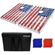 GoSports American Flag CornHole Bean Bag Toss Game Set (8 Bags per Pack)