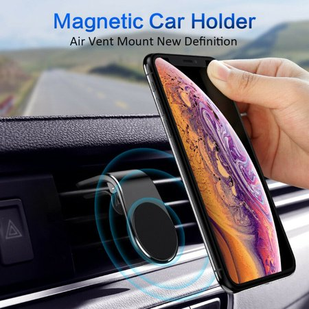 Car Air Vent Metal magnet bracket Holder Stand for iPhone Mobile Cell Phone - image 6 de 7