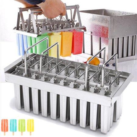 - 20 Lattice Square Head Steel Ice Cream Lolly Bars Mold Popsicle Stick Holder