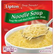 (4 pack) Lipton Noodle Instant Soup Mix, 4.5 oz