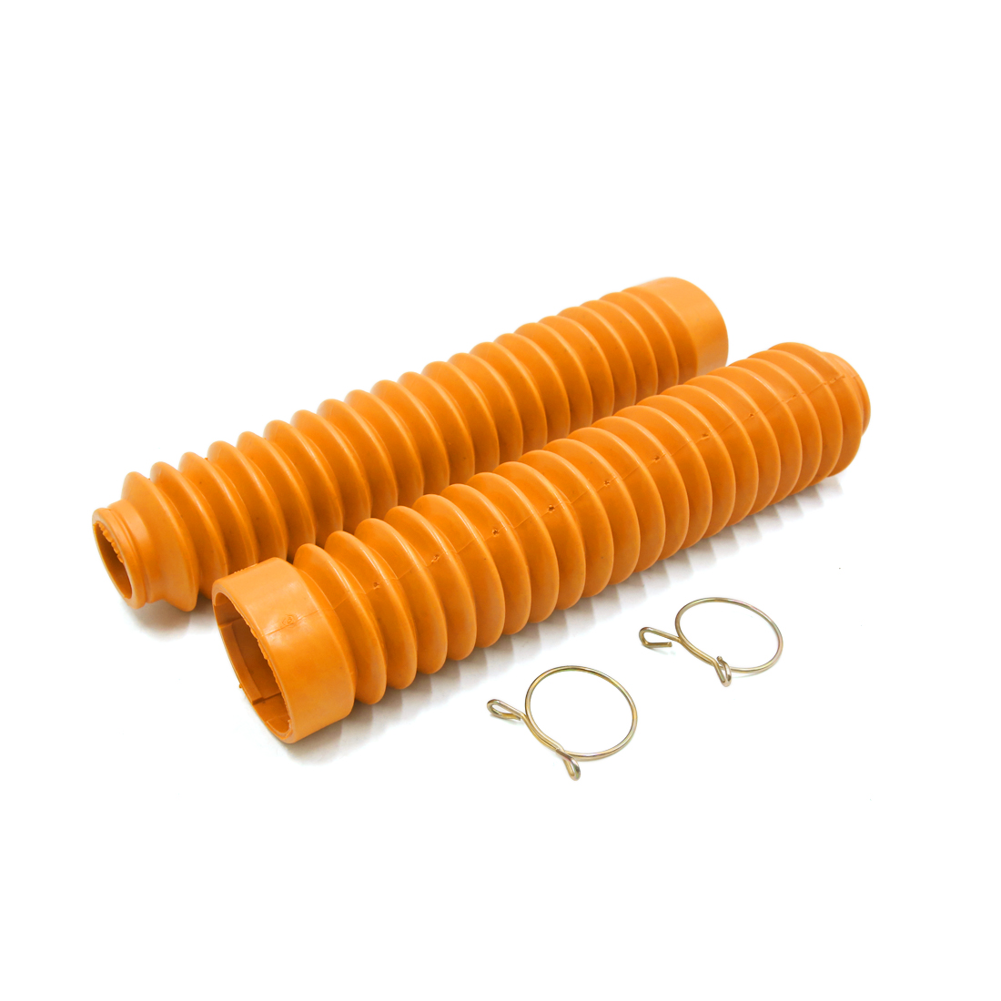 Pair Orange Rubber 26cm Length Motorcycle Front Fork Shock Absorber Dust Cover