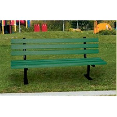 Engineered Plastic Systems Gslb6 6ft Garden Bench In Green With Steel Legs