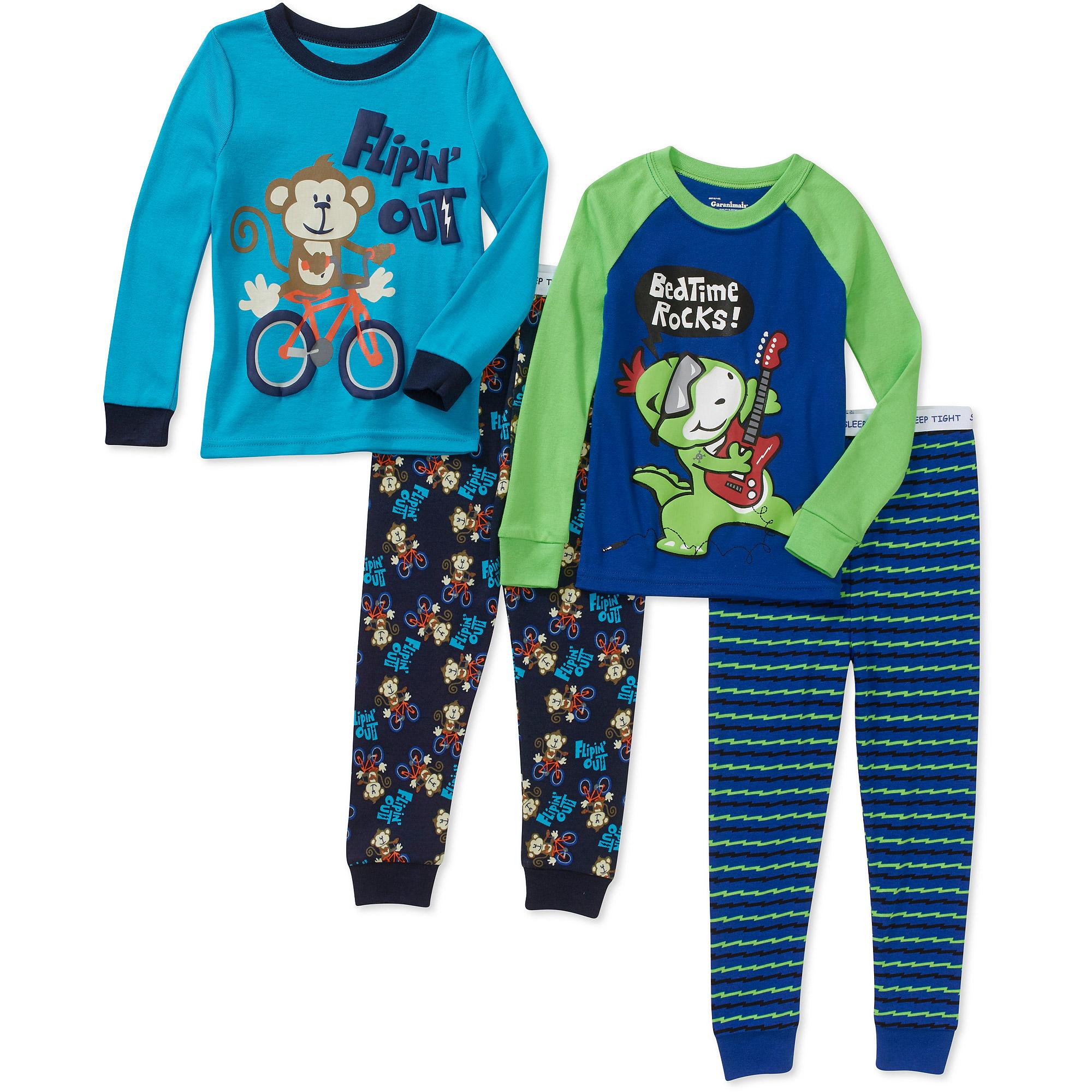 Garanimals Baby Toddler Boy Cotton Tight Fit Pajamas, 2 Sets