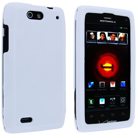White Snap-On Hard Case Cover for Motorola Droid 4 XT894 ()