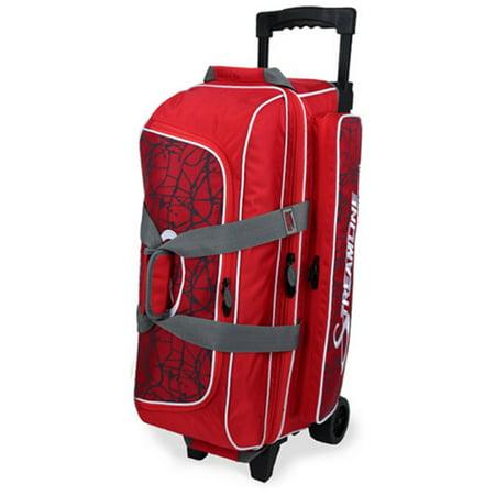 Storm Streamline 3 Ball Roller Bowling Bag- Red Crackle/Red ()