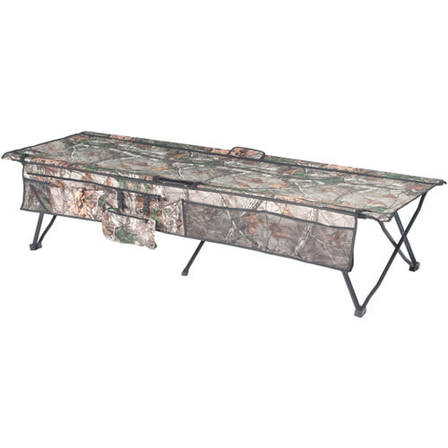 Ozark Trail Instant Cot, Can Hold up to 250 lbs, Realtree Xtra