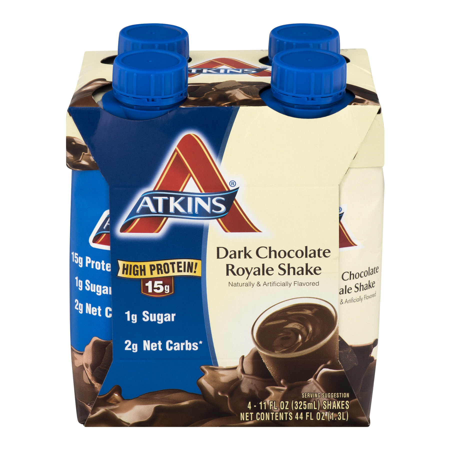 Atkins Dark Chocolate Royale Shake, 11Fl oz., 4-pack (Ready To Drink)