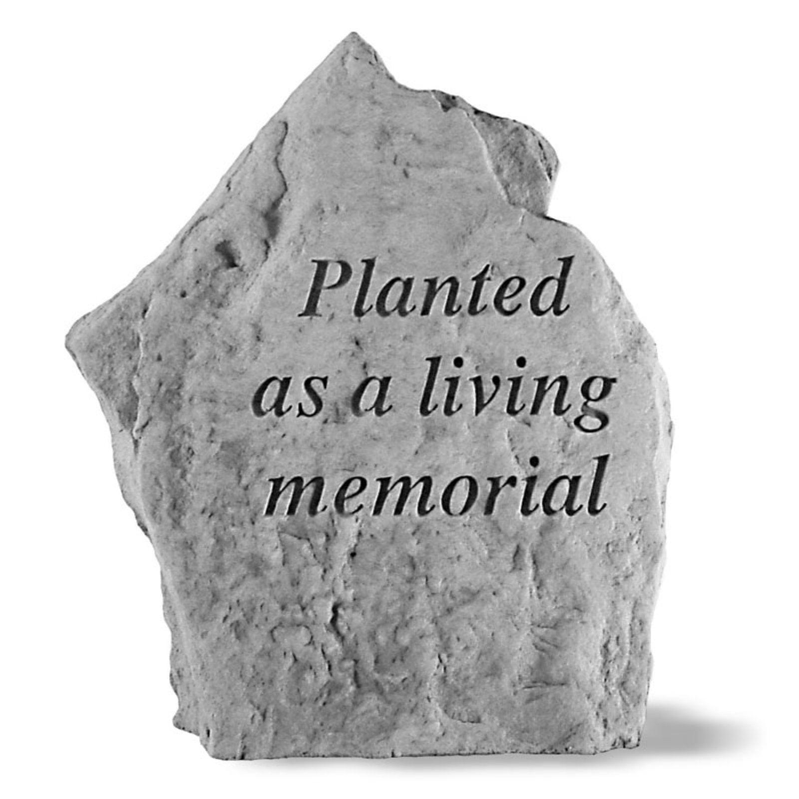 Planted As A Living Memorial Memorial Stone Marker