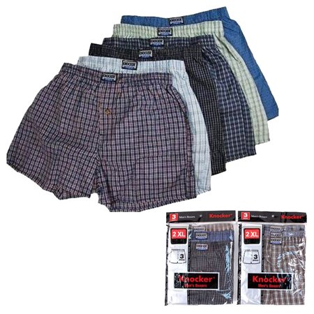 6 Men Knocker Boxer Brief Underwear Male Elastic Waistband Brief Shorts Size