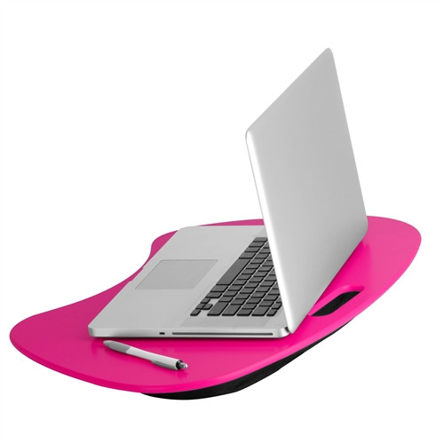Honey Can Do Lap Desk with Built-In Handle and Cushion, Multicolor