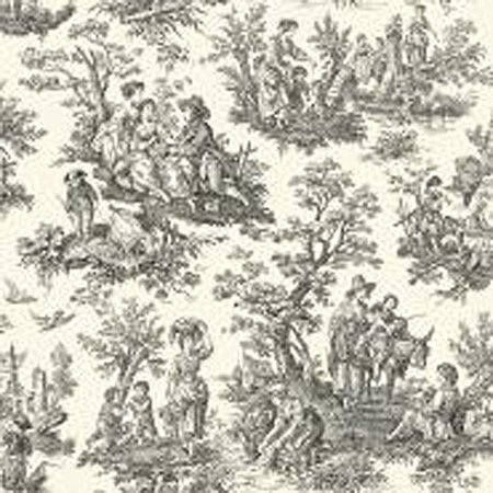 - York Wallcoverings Waverly Country Life 33' x 20.5'' Toile Wallpaper Roll