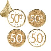 50th Birthday Party Favor Stickers 324ct