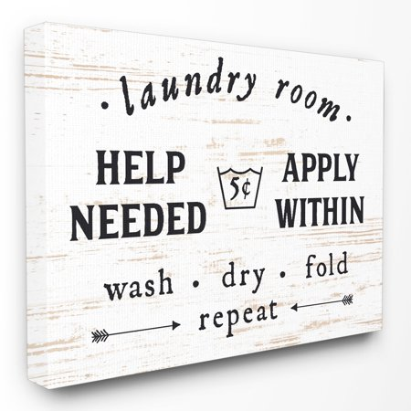 The Stupell Home Decor Collection Laundry Room Help Needed Ly Within Canvas Wall Art