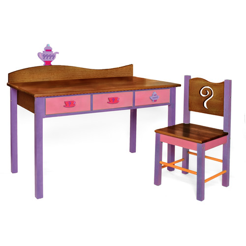Room Magic Little Girl Tea Set Kidsu0027 2 Piece Table And Chair Set