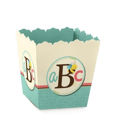 A is for Alphabet - Party Mini Favor Boxes - Baby Shower or Birthday Party Treat Candy Boxes - Set of 12