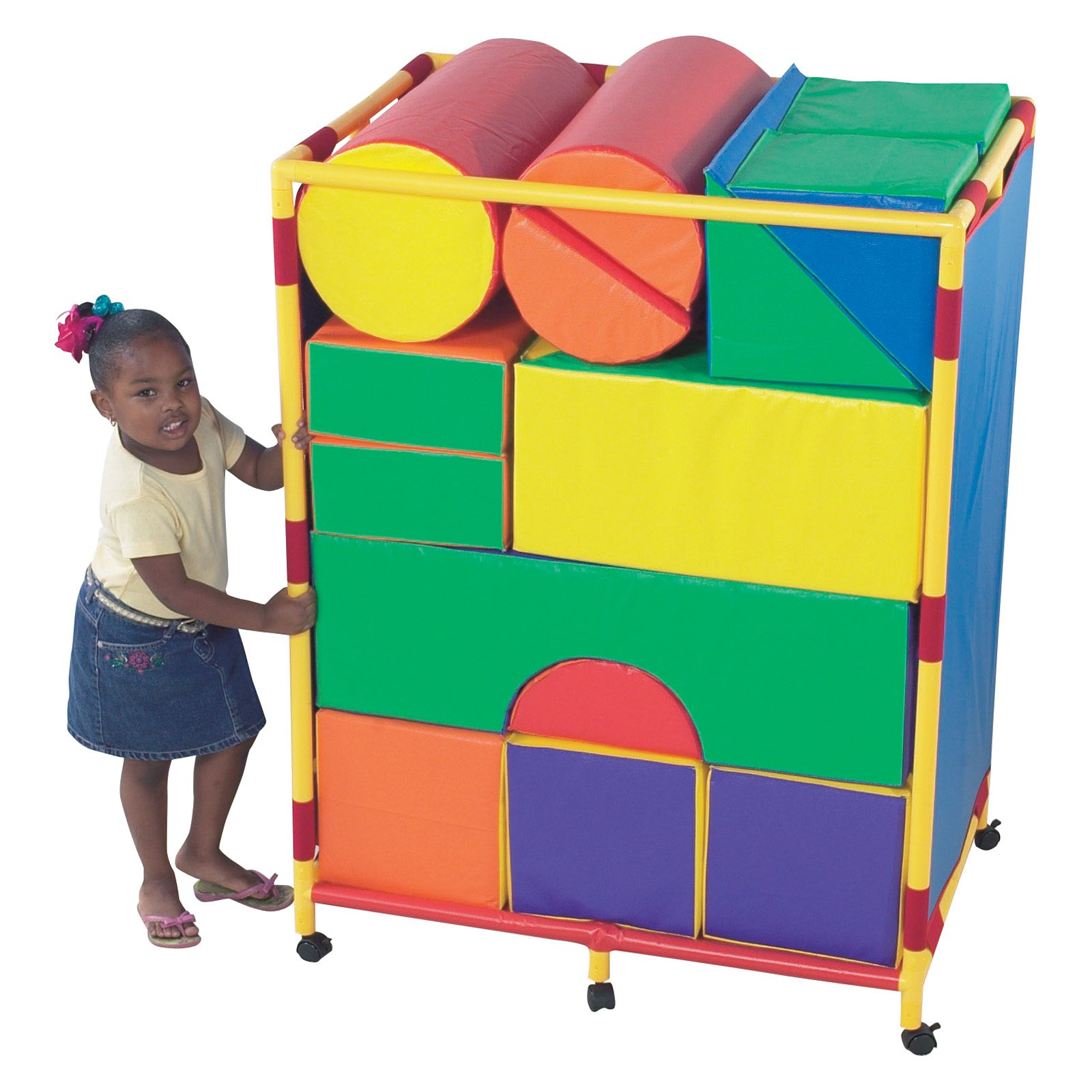 Children's Factory Trolley for 21 Piece Module Soft Play Block Set by Children's Factory