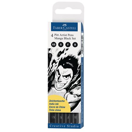 Faber-Castell PITT Artist Black Pens, Manga Set