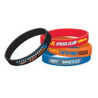 Hot Wheels 'Wild Racer' Rubber Bracelets (4pc)