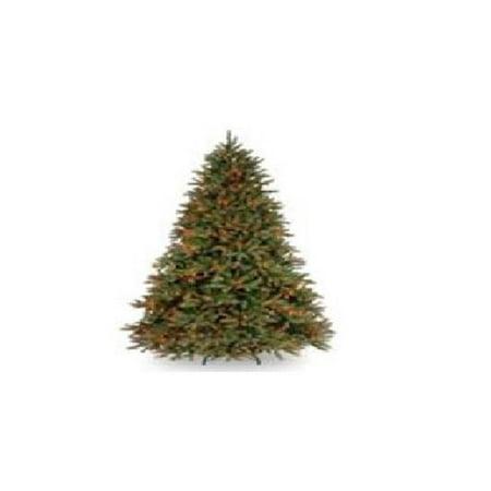 10 ft. Jersey Fraser Fir Pencil Slim Tree with Clear Lights Frasier Fir Pencil