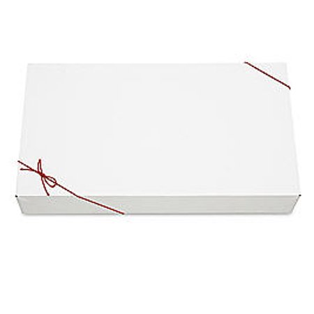 Gift Packaging Apparel Boxes White with Red Loops-10pack ()