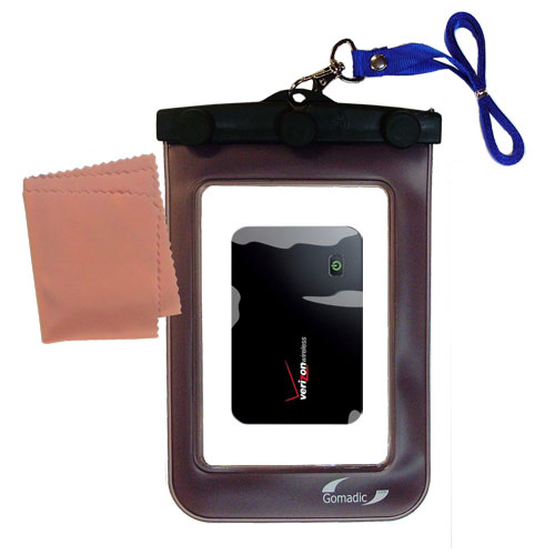 Gomadic Clean and Dry Waterproof Protective Case Suitablefor the Verizon MiFi 2200 to use Underwater