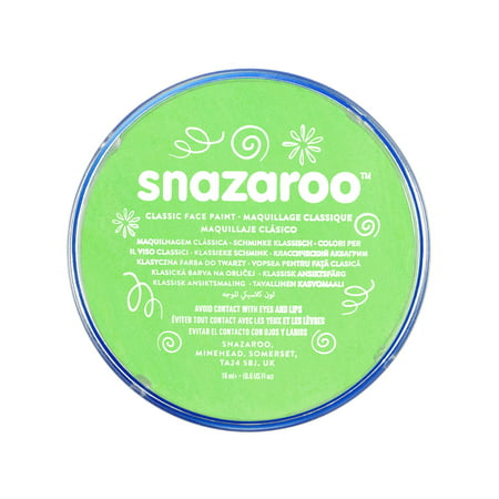Snazaroo Classic Face Paint, 18ml, Lime Green (Black Light Reactive Paint)