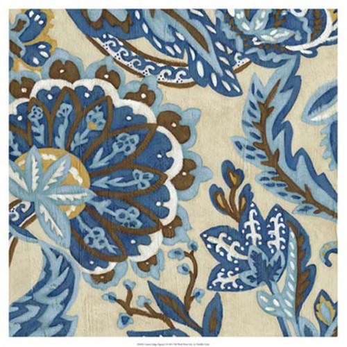 Evive Designs Custom Indigo Tapestry I by Chariklia Zarris Painting Print