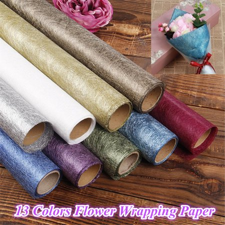 Meigar 13Pattern Flower Bouquet Wrapping Paper Craft 4.5M Xmas Gifts Packaging Supplies](Paper Christmas Crafts)