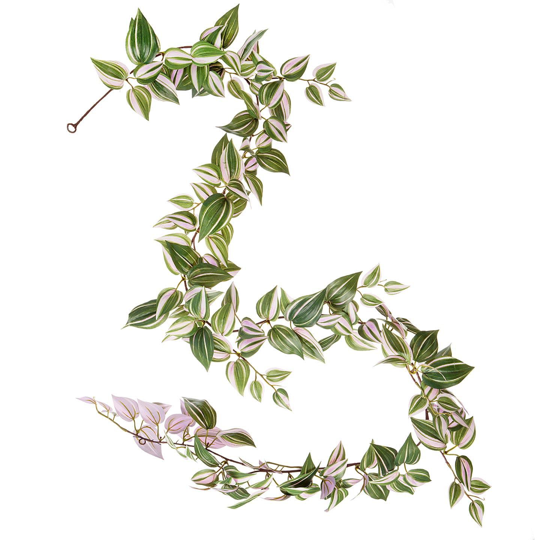 Wandering Jew Garland: Purple/Green, 6 x 72 inches, 171 tips
