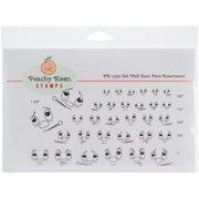 Peachy Keen Stamps Clear Face Assortment 32/Pkg-Get Well Soon