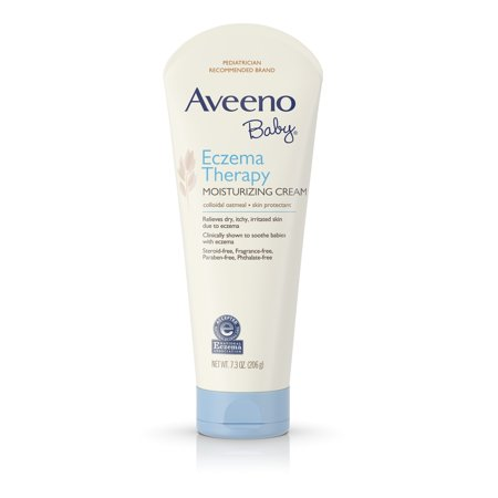 Aveeno Baby Eczema Therapy Moisturizing Cream For Dry Skin, 7.3 Oz.