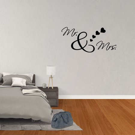 Wall Decal Quote Mr And Mrs Married Couple Vinyl Art Words Lettering Decor - Qute Couple