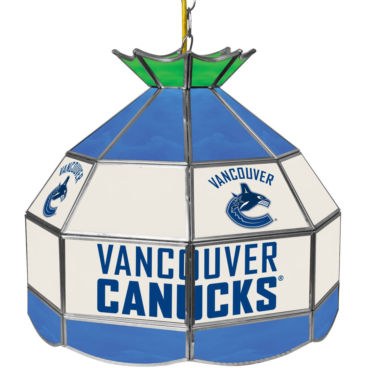 "NHL 16"" Handmade Tiffany Style Lamp, Vancouver Canucks"