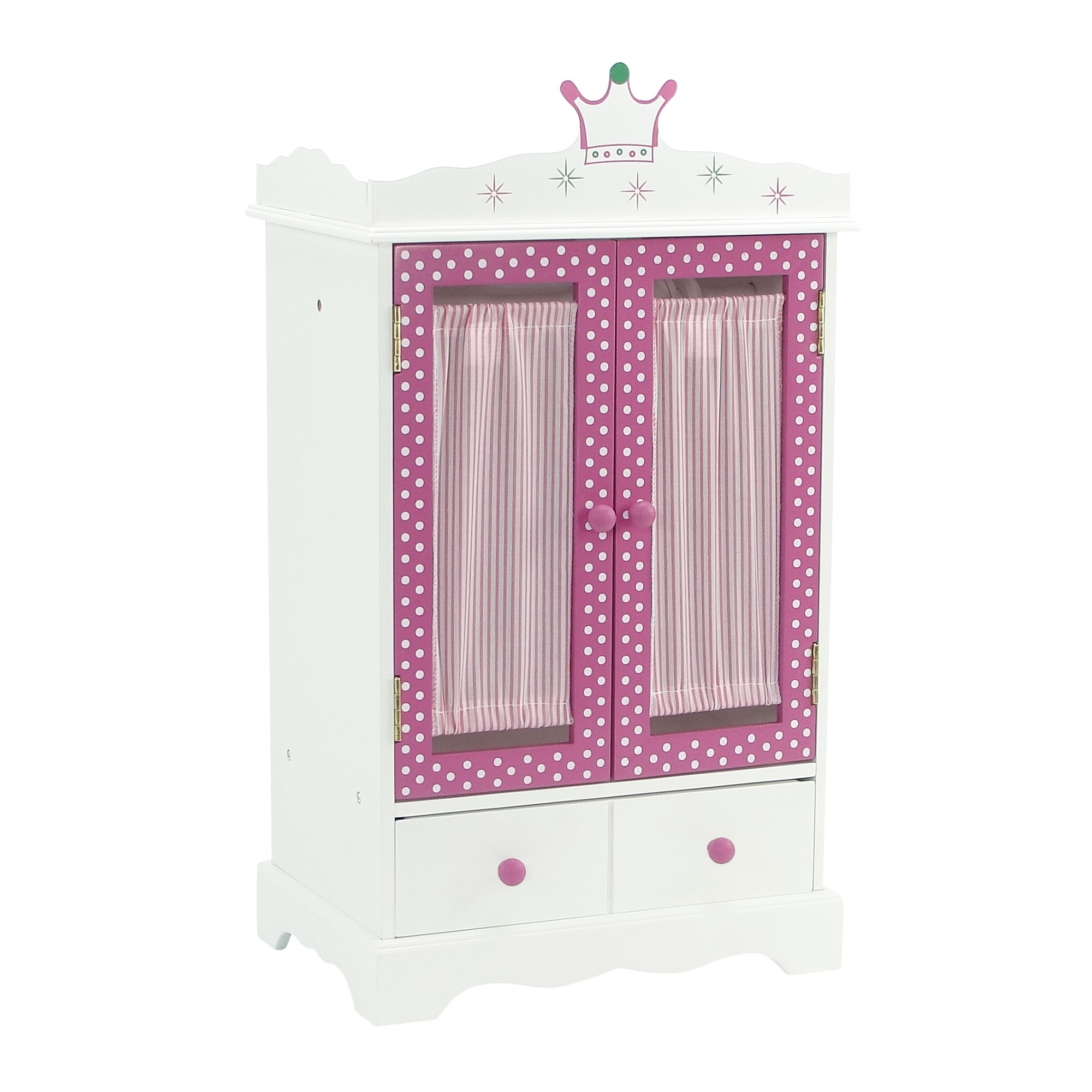 "18 Inch Doll Wish Crown Storage | Doll Armoire Closet Furniture | Fits 18"" American... by Emily Rose Doll Clothes"