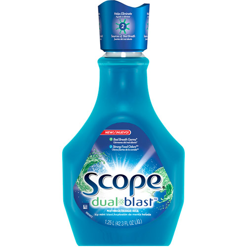 Scope Dual-Blast Icy Mint Blast Mouthwash 42.26 Oz