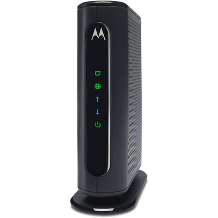 MOTOROLA MB7220 (8x4) Cable Modem, DOCSIS 3.0 | Certified for XFINITY by Comcast, Spectrum, Time Warner, Cox & more | 343 Mbps Max Speed Compatible Wireless Modem Jack