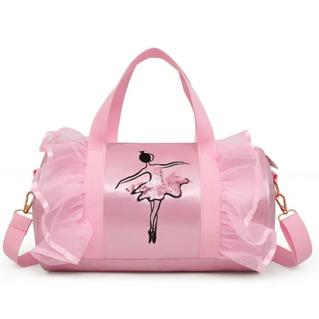 Akoyovwerve Dance Bag for Little Girls,Girls Shoulder Bag Latin Dance Bag Children's Ballet Bag ,Pink
