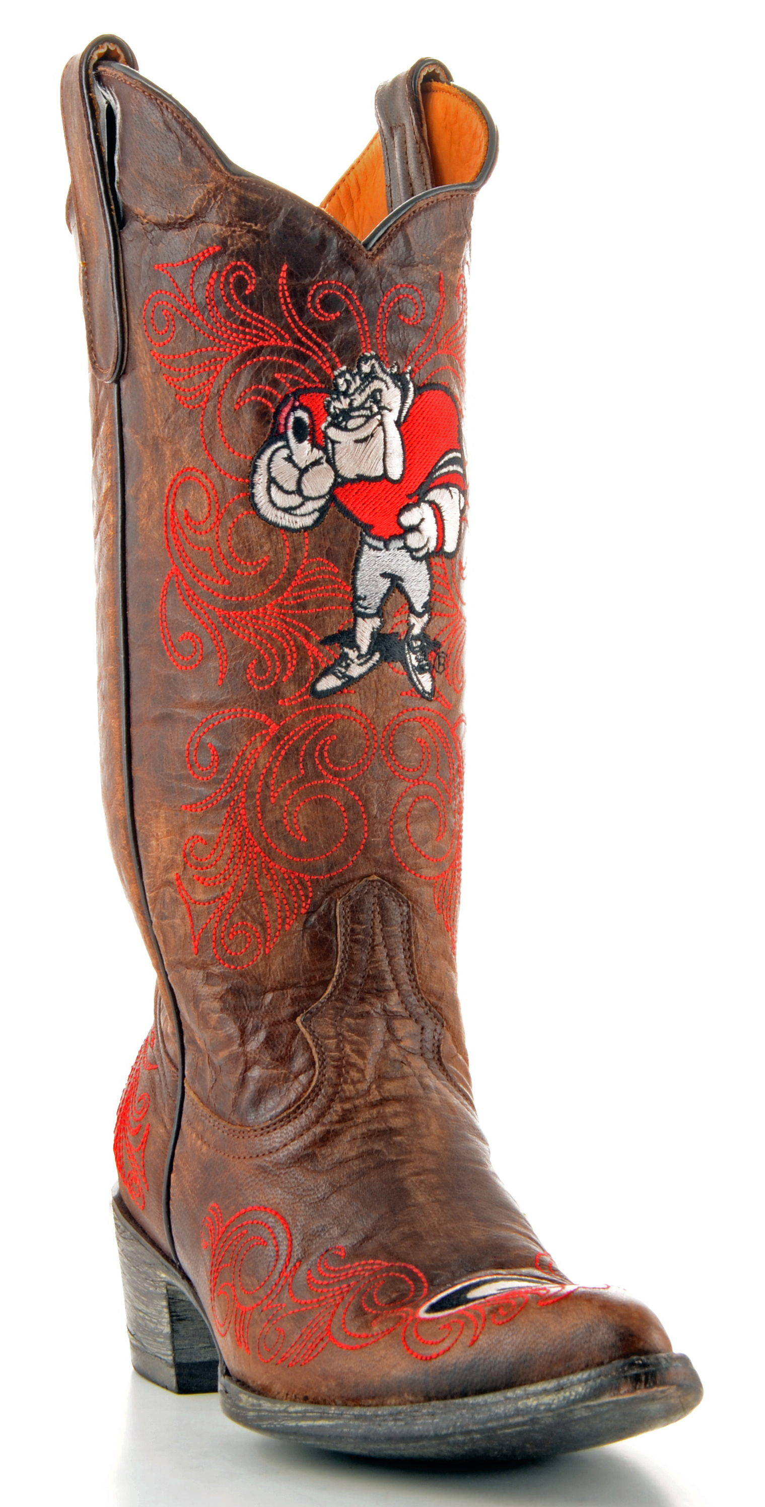 "Gameday Boots Womens 13"" Tall Leather University Of Georgia Cowboy Boots by GameDay Boots"