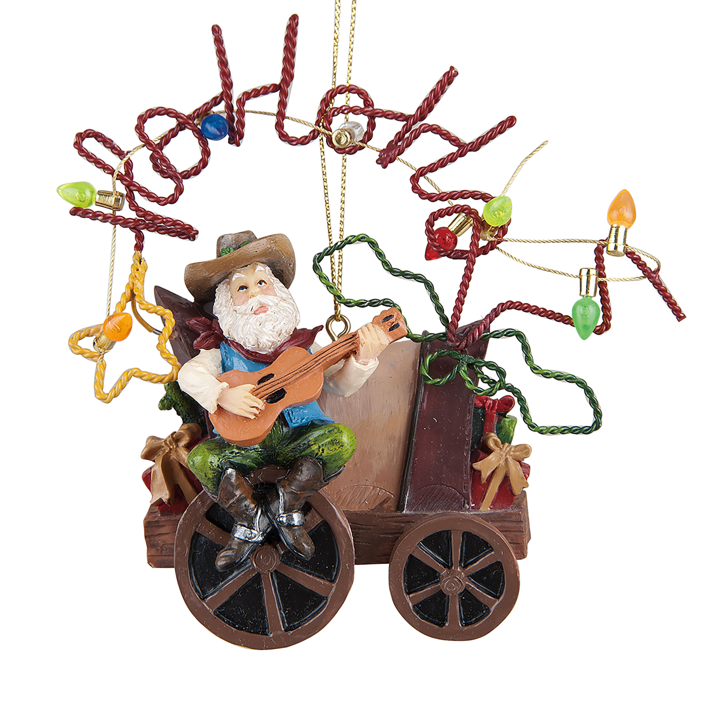Country Singer Santa Ornament