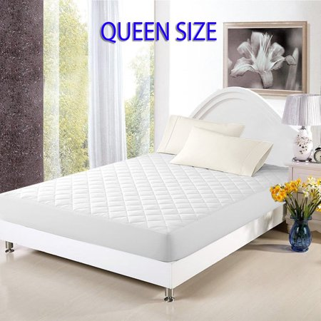 mattress cover bed topper bug dust mite waterproof pad protector quilted queen size. Black Bedroom Furniture Sets. Home Design Ideas