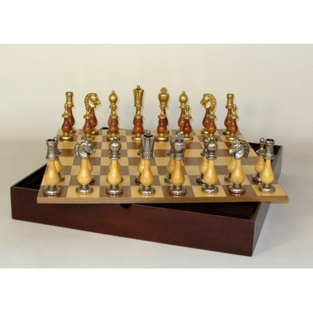 Isle of Lewis Solid Resin Chess Set on Ebony/Birdseye Maple (Birdseye Maple Blades)