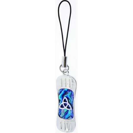 Jewelry Cell Phone - Cell Phone Strap-Blue Paua Snowboard W/Knots