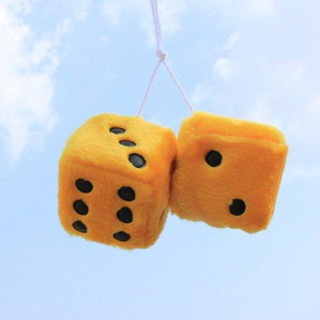 Red Plush Fuzzy Dice (Supersellers Car Decoration Automobiles Rear View Mirror Charms Hanging Suspension Ornaments Plush Dice Craps)