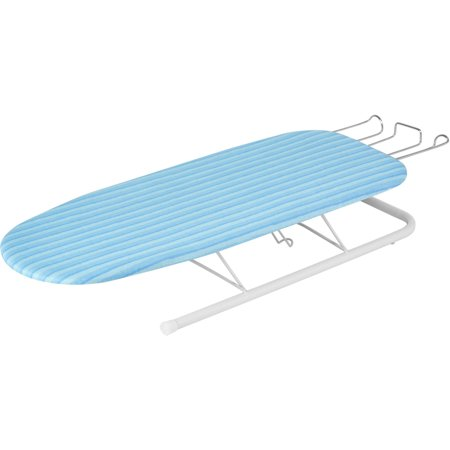 Honey Can Do Tabletop Ironing Board With Retractable Iron Rest  Brd 01435  Blue
