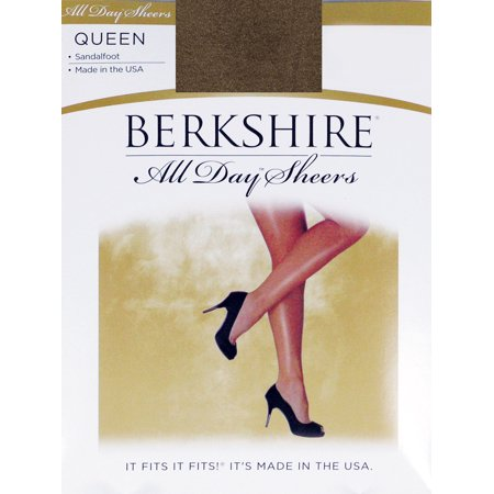 Pantyhose Coffee (Berkshire Women's Plus-Size Queen All Day Sheer Non-Control Top Pantyhose - Sandalfoot, French Coffee, Queen Petite)