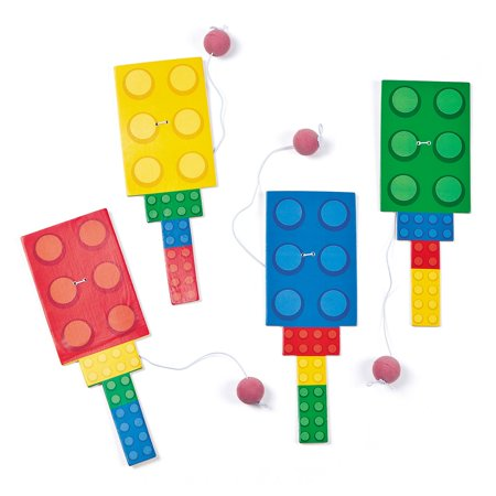 Block Party Paddleball Games (12 Pack) - Party Supplies](Halloween Block Party Game Ideas)